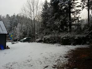 tyvärr kom det mer snö.....